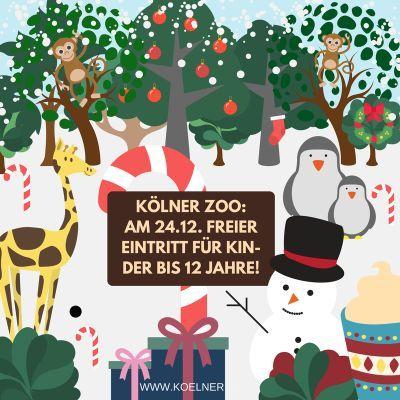 Nur am 24. Dezember: Gratis in den Kölner Zoo – für Kinder bis 12 Jahre
