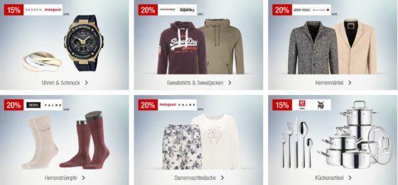 Galeria Kaufhof Sonntagsangebote   z.B. 20% auf Taschen, Kosmos Experimentierkästen   15% Rabatt auf ausgewählte Rotweine und Roséweine