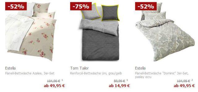Top! Karstadt Bettwäsche Sale bis 75% Rabatt + 20% extra Rabatt