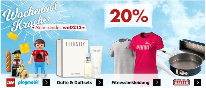 Karstadt Weekend Kracher: z.B.  20% auf Playmobil, Düfte & Duftsets uvam.....