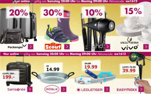 Karstadt Weekend Kracher: z.B.  20% auf Hosen & Jeans, Düfte, Packenger Koffer, ausgewähltes Playmobil ...