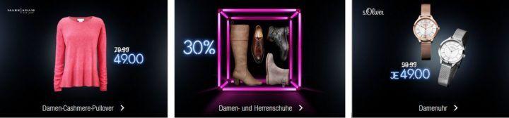 Kaufhof Adventskalender heute: MARK ADAM Damen Pullover für 49€, 30% Rabattt auf Damen  & Herrenschuhe