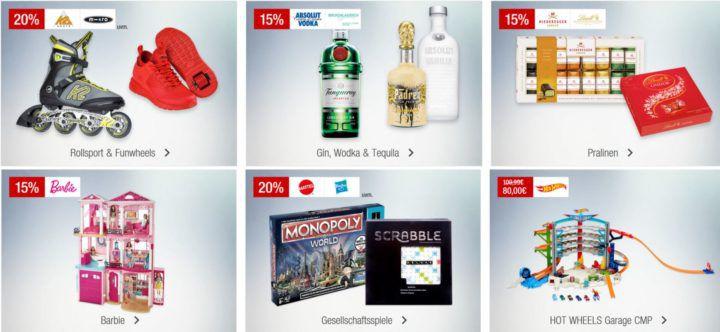 Galeria Kaufhof Sonntagsangebote   z.B. 15% Rabatt auf LEGO, Barbie, ausgewählte Gin, Wodka & Tequila, Uhren vieles mehr