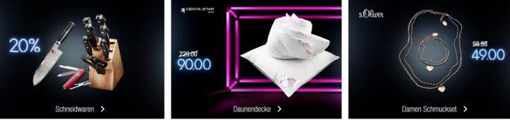 Kaufhof Adventskalender heute: z.B. 20% Rabatt auf Schneidwaren (Messer & Co.)   s.Oliver Schmuckset für 49€