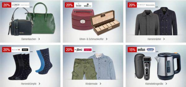 Galeria Kaufhof Sonntagsangebote   z.B. 15% Rabatt auf PLAYMOBIL, Uhren u. Schmuck, ausgewählte Whisky, Cognac's & Weinbrände uvam