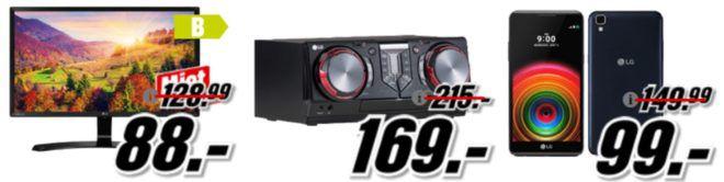 Media Markt LG Tiefpreisspätschicht   günstige Phones & Fernseher z.B. LG 60UJ6309  60Zoll UHD TV für 849€