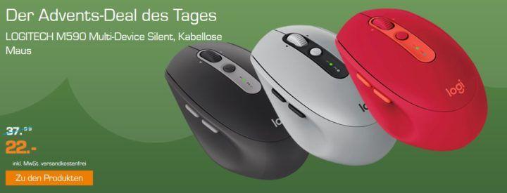 Logitech M590 Silent Bluetooth Maus für 22€ (statt 34€)