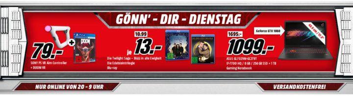 SONY PlayStation 4 Slim 500GB für 199€ uvm. im Media Markt Dienstag Sale