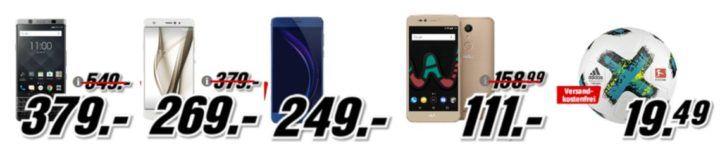 Media Markt Smartphone Fieber + Adidas Fußball: z.B. HTC U Ultra 64 GB statt 391€ für 249€
