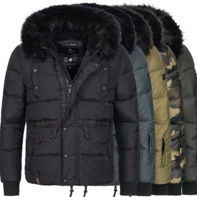 Marikoo B613 Herren Winter Stepp Jacke bis 2XL für 44,90€