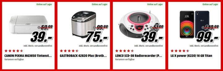 Media Markt Adventskalender Tag 14: z.B. Brotbackautomat GASTROBACK 42820 Plus statt 96€ für nur 75€