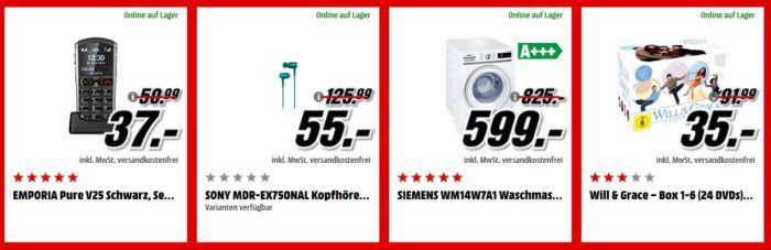 Media Markt Adventskalender Tag 20: z.B. TCHIBO CAFISSIMO Tuttocaffè Nero Kapselmaschine inkl. 100 Kapseln für 39€