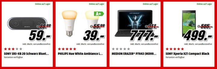 Media Markt Adventskalender Tag 21: z.B. MEDION ERAZER Gaming Notebook für 777€