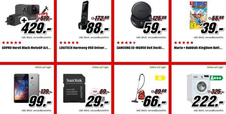 Media Markt Adventskalender Tag1: z.B. Mario + Rabbids Kingdom Battle [Nintendo Switch] für  39, €