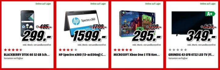 Media Markt Adventskalender Tag 10: z.B. BLACKBERRY DTEK 60 Smartphone für 299€