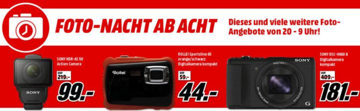 Media Markt Foto Late Night: z.B. HAMA Trekking Duo Carbon Dreibein Stativ für 129€