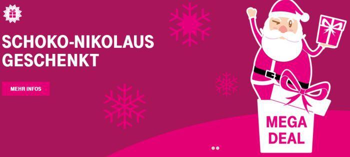 Abgelaufen! Nur für Telekom Kunden: Schokoladen Nikolaus geschenkt