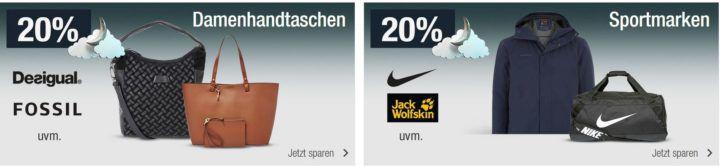 Damentachen & Sportfashion mit 20% Rabatt uvm.   Galeria Kaufhof Mondschein Angebote