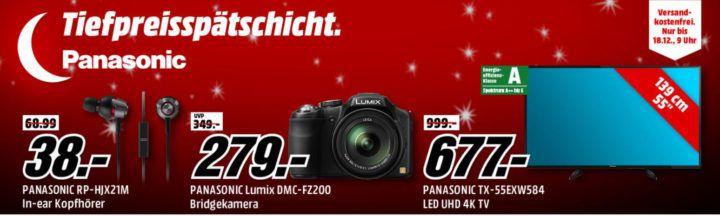 Media Markt PANASONIC Tiefpreisspätschicht    günstige Kameras, TV, Kopfhörer und mehr...