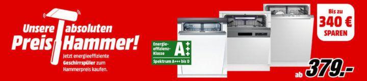 Media Markt Preishammer: heute Geschirrspüler wie der BEKO DSN38330X  statt 480€ für 359€