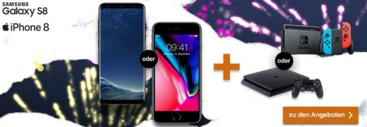Logitel Jahresendspurt: günstige Mobilverträge mit coolen Prämien   z.B. Samsung S8 o. iPhone 8 inkl. Nintendo Switch