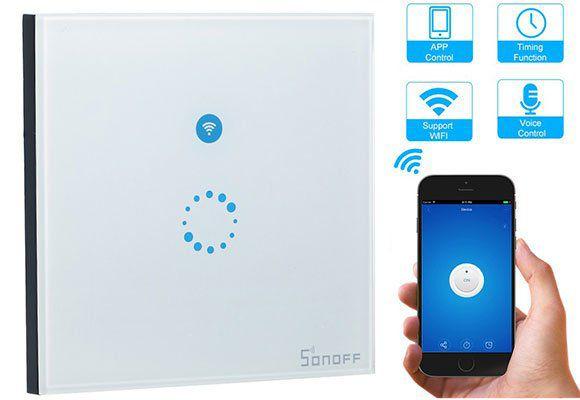 SONOFF WLAN Touchscreen Wandschalter für 9,49€   Prime
