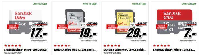 Media Markt SanDisk Tiefpreisspätschicht   günstiger Speicher z.B. SANDISK 240 GB Plus SSD für 69€