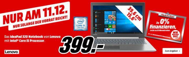 LENOVO IdeaPad 320   15.6 Zoll Notebook mit i5 für nur 399