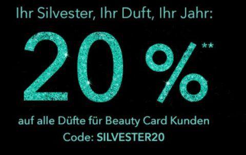 Douglas Silvester Special mit 20% Rabatt ab 50€ bis Mitternacht   nicht im Sale