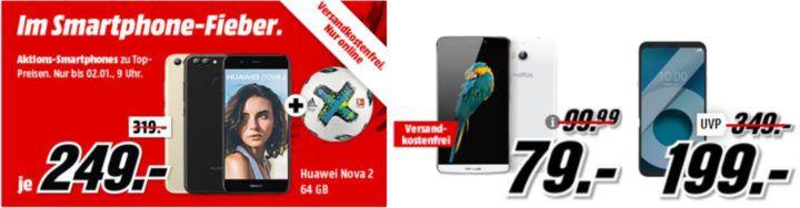Media Markt Smartphone Fieber + Adidas Fußball: z.B. TP LINK Neffos C5 Max 16 GB Dual SIM für 79€
