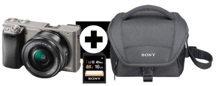Sony Alpha 6000 Systemkamera + Objektiv SEL P1650 (16 50mm) ab 466€ (statt 547€)