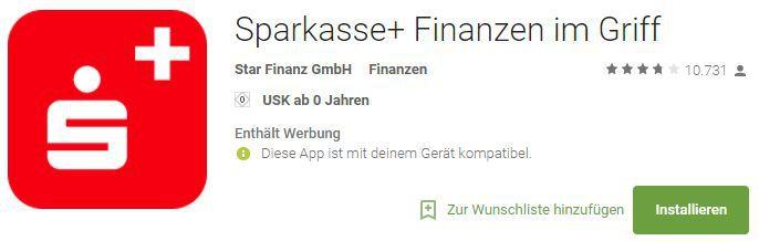 Sparkasse+ Finanzapp (Android/iOS) gratis statt 0,99€