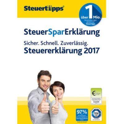 SteuerSparErklärung 2018 als CD Box für Windows (Steuerjahr 2017) für 22,90€