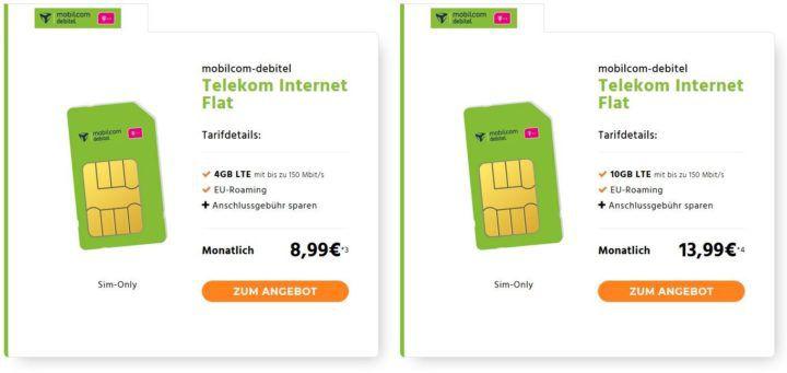 Telekom LTE Datentarife mit 4GB für 8,99€ mtl. oder 10GB für 13,99€ mtl.   auch Vodafone verfügbar!