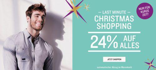Tom Tailor mit 24% Christmas Rabatt auf (fast) Alles   auch auf den 60% Sale bis Mitternacht