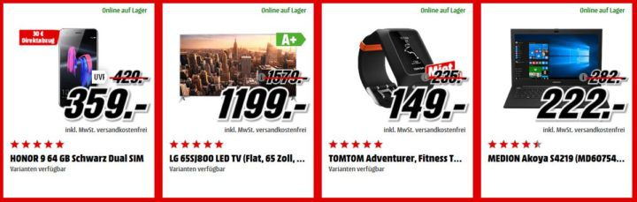 Media Markt Adventskalender Tag 9: z.B. TOMTOM Adventurer Fitness Tracker statt 199€  für 149€