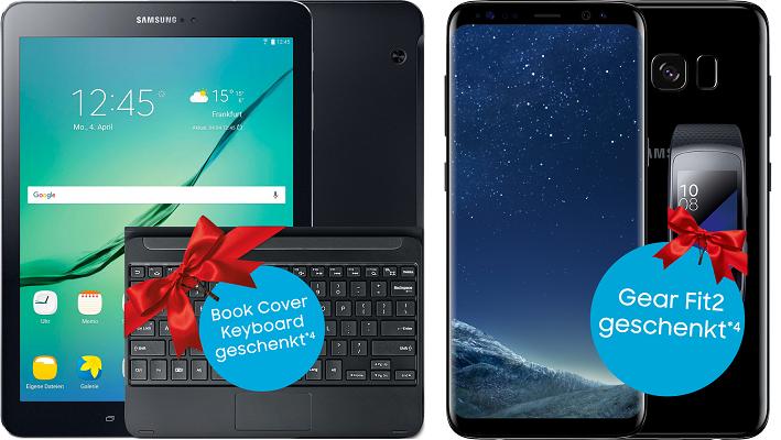 Samsung Galaxy S8 +T813 Galaxy Tab S2 9.7 für 1€ + MagentaMobil M Allnet Flat ab 39,95€