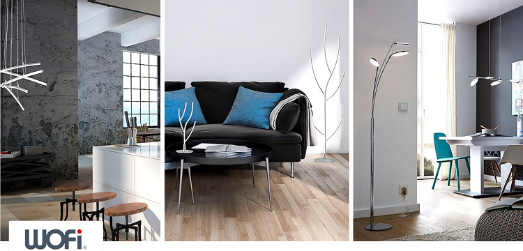 Wofi Lampen & Leuchten Sale mit bis zu 83% Rabatt bei Vente Privee   z.B. Deckenleuchte Trois ab 99,90€ (statt 172€)