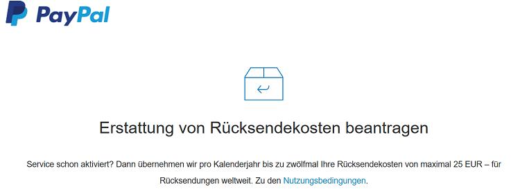 TOP! Paypal erstattet Retourenkosten für bis zu 12 Retouren (je max. 25€)