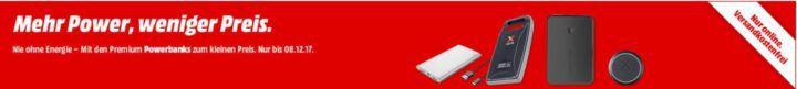 Media Markt Powerbank Sale mit günstigen Akkus ab 5€