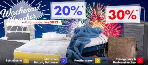 Karstadt Weekend Kracher: z.B. 20% Rabatt auf DFB Trikots   30% Rabatt auf Reisgepäck & Businesstaschen uam.