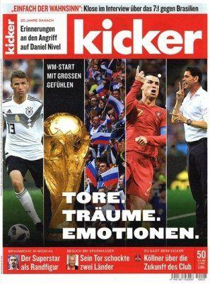 13 Ausgaben vom Kicker für 57,72€ inkl. 57,72€ Verrechnungsscheck