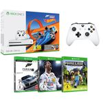 Xbox One S mit 500 GB + Forza Horizon 3 + Hot Wheels + Forza Motorsport 7 + FIFA 18 + Minecraft + 2. Controller für 277€