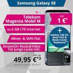 Samsung Galaxy S8 +T813 Galaxy Tab S2 9.7 für 1€ + MagentaMobil M Allnet-Flat ab 39,95€
