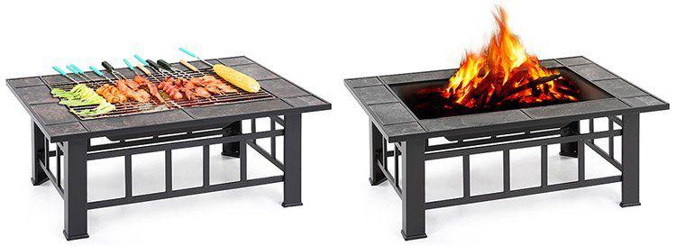 Feuerstelle mit Grillrost (94x71x35cm) für 57,52€ (statt 90€)