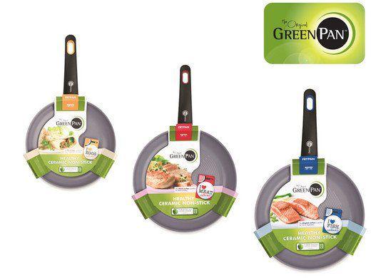 Greenpan Siena 3D Bratpfannen Set (20 / 24 / 26cm) für 48,90€ (statt ~80€)