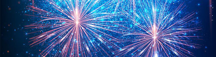 Blau Rosanes Feuerwerk