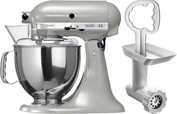 KitchenAid 5KSM150PSEMC Artisan Küchenmaschine + KitchenAid Fleischwolf für 399€ (statt 474€)