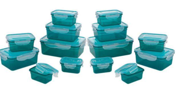 GOURMETmaxx Frischhaltedosen Klick it  smaragdgrün 28tlg. für 19,99€ (statt 25€)