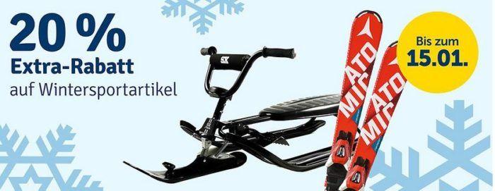 20% Rabatt auf Wintersport Artikel bei myToys bis Mitternacht